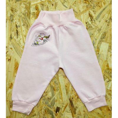 Штаны 00-80 розовые с начёсом