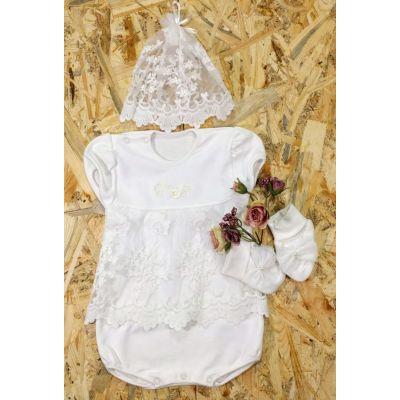 Комплект для крещения для девочки Ажур