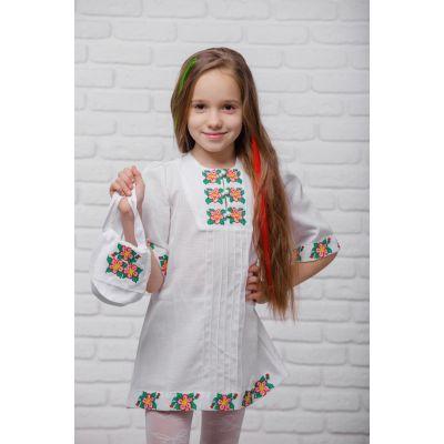 Платье вышиванка Яблоневый цвет