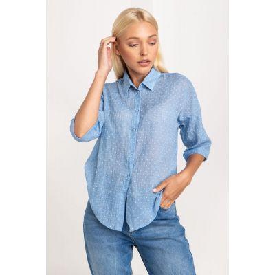 Рубашка Костера 5234 голубая
