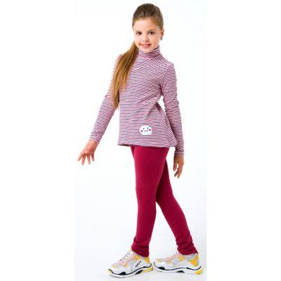 Гольф туника розово-бордовая полоска 114680