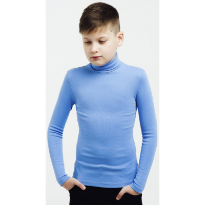 Гольф для мальчика светло-синий отворот 114652