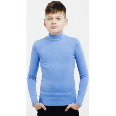 Гольф для мальчика светло-синий стойка 114650/114651