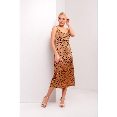 Платье Турига 5374 темно бежевое