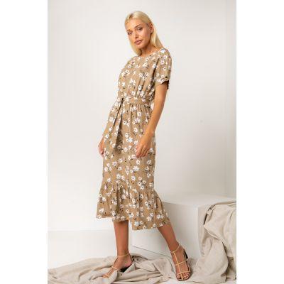 Платье Палисота 5319 бежевое