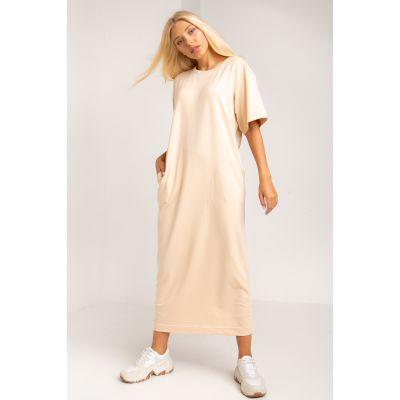 Платье Кремери 5385 бежевое