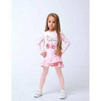 Платье трикотажное розовое 120256