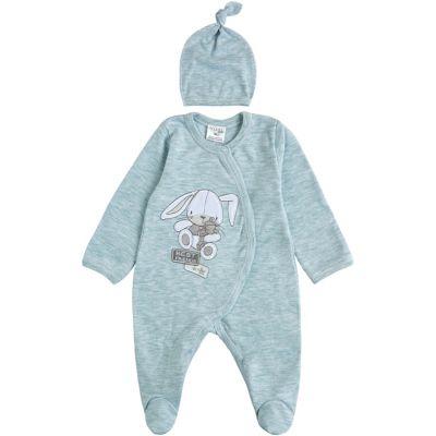 Комплект комбинезон и шапочка для малыша 29243-02 мятный