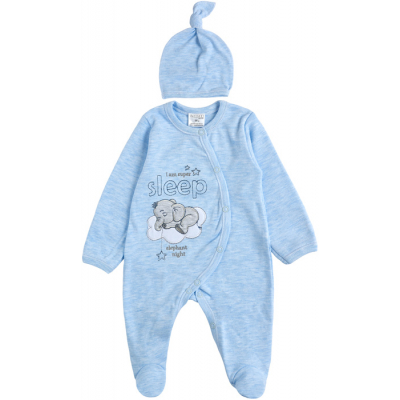 Комплект комбинезон и шапочка для малыша 29243-02 голубой