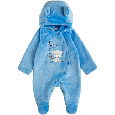 Комбинезон для малыша 12104-25 ярко-голубой