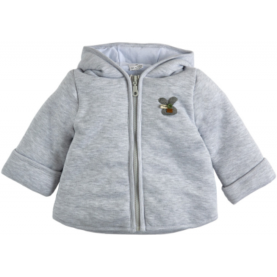 Курточка демисезонная утеплённая 105561-02-32 серый меланж