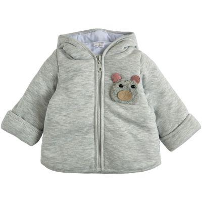 Куртка демисезонная утеплённая 105561-02-32-01 серый меланж