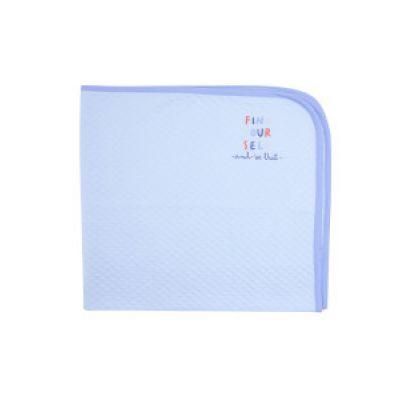 Плед капитоновый 119788 голубой