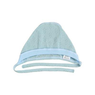 Шапочка чепчик для новорождённого 25267-88 голубой ажур