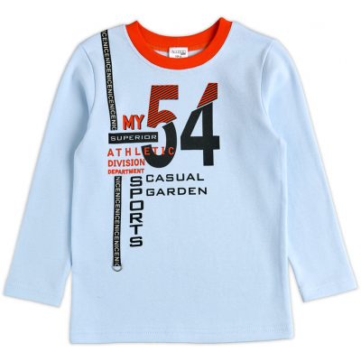 Джемпер реглан для мальчика 39055-02 интерлок голубой