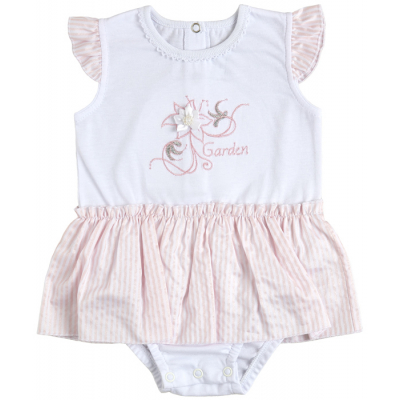 Боди юбка 19808-03-35 персиковая полоска