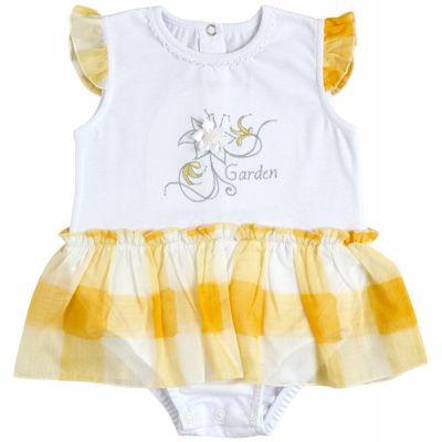 Боди юбка 19808-03-35 желтая клетка