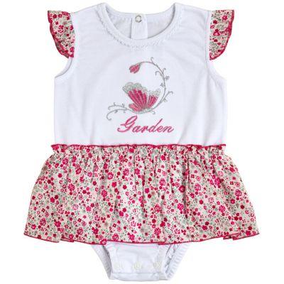 Боди юбка 19807-03-12 Розовые цветы