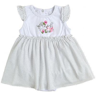 Боди платье 19806-03 Горох на белом