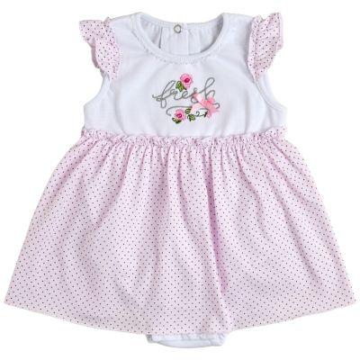 Боди платье 19806-03 Горох на розовом