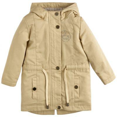 Куртка демисезонная для девочки 105560-40 бежевая полоска