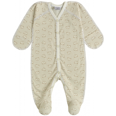 Комбинезон человечек для малыша 10814-03 кулир беж