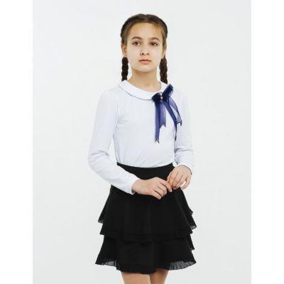 Юбка школьная 120231 черная трикотажная