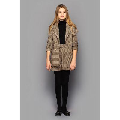 Комплект для девочки Бетти (жакет + шорты) коричневый