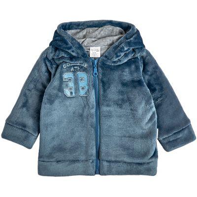 Куртка демисезонная утепленная 105571-25 серо-синяя