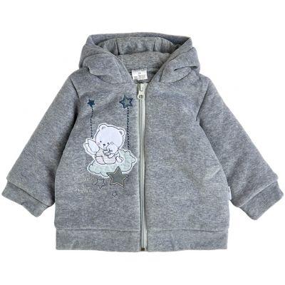 Куртка демисезонная утеплённая 105562 светло-серая