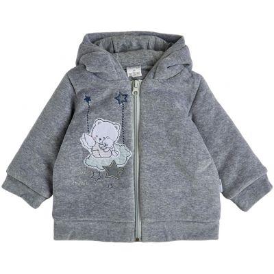 Куртка демисезонная утеплённая 105562-01 серая