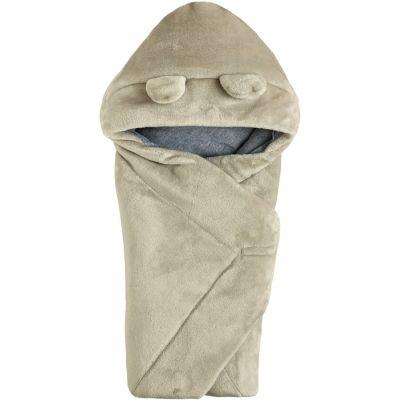 Одеяло конверт с капюшоном 106110-25 светло-серый