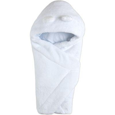 Одеяло конверт с капюшоном 106110-25 белый