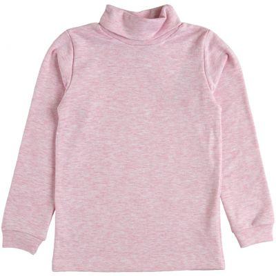 Гольф с отворотом для девочки 39057-09 розовый меланж