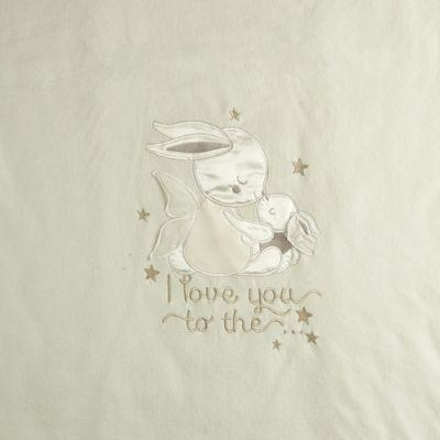 Плед одеяло для малыша утепленный 106109-01-32 велюр молочный