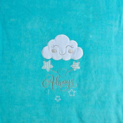 Плед одеяло утеплённое 106105-01-32 велюр бирюза