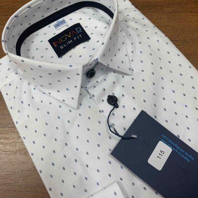 Рубашка школьная для мальчика 12-51-17 белая