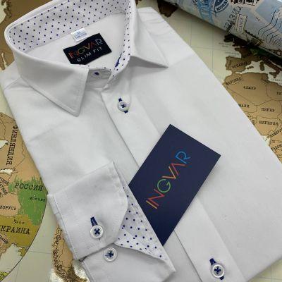 Рубашка школьная для мальчика 12-51-20(616/524) белая