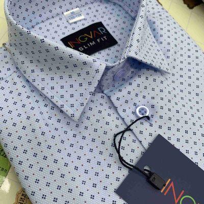 Рубашка школьная для мальчика 12-51-43 голубая с рисунком