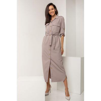 Платье Апарит 5573 серо-лиловое