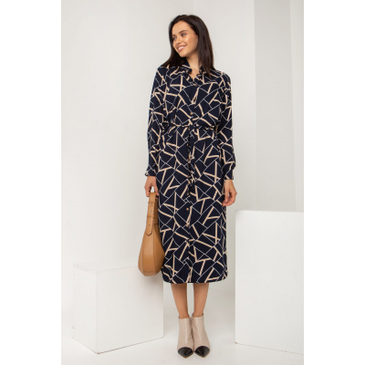 Платье Рапитал 5553 темно-синее