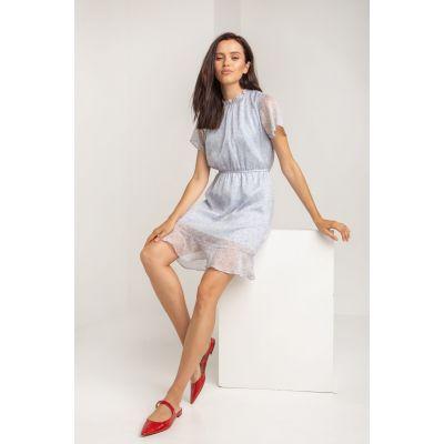 Платье Готэрин 5581 серо-голубое