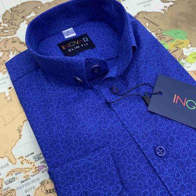 Рубашка для мальчика 17-16-45(32823) синяя