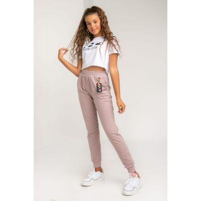 Спортивные штаны Никола 5692 пудра