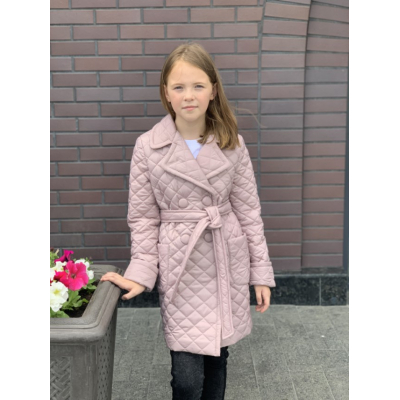 Пальто для девочки пудра 270