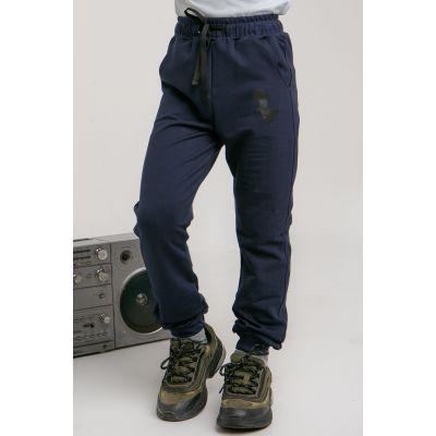 Спортивные штаны Крейп 5629 синие