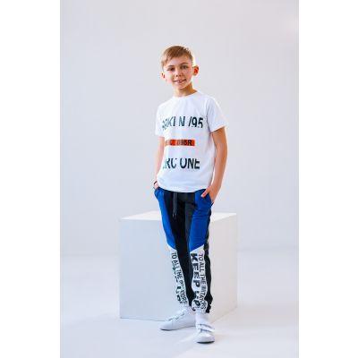 Спортивные брюки для мальчика Тер 4912 черно-синие