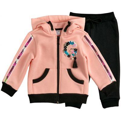 Спортивный костюм утеплённный для девочки 28262-20  начёс розовый