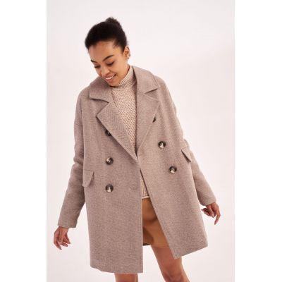Пальто Нимитра 5778 коричневое