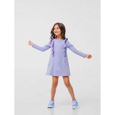 Платье поло 120291 лиловое